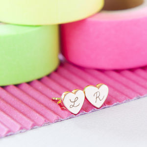 Personalised Initial Stud Earrings - gifts for her