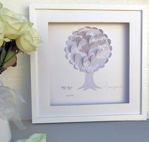 Framed 3D 'Love Grows' Wedding Gift