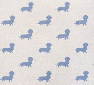 George The Dachshund Fabric - throws, blankets & fabric