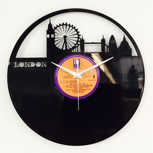 'I Heart London' Vinyl Record Clock