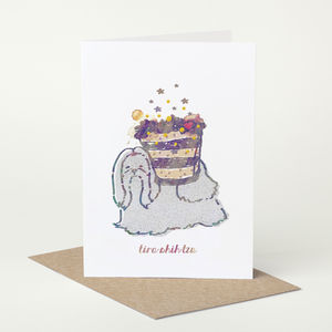 Shih Tzu Dog 'Tira Shih Tzu' Birthday Card