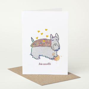 Scottish Terrior 'Bis Scotti' Birthday Card