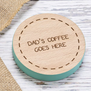 Dads Personalised Gift Coaster - shop by price