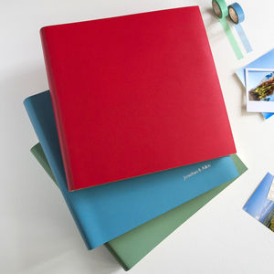 Extra Large Leather Photo Album - personalised