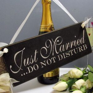 Just Married Sign - new in wedding styling