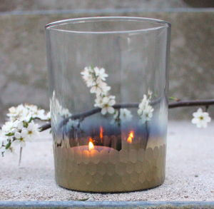 Gold Dipped Tea Light Holder - candles & candle holders