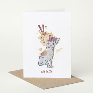 Chihuahua Dog 'Chi Latte' Birthday Card - general birthday cards