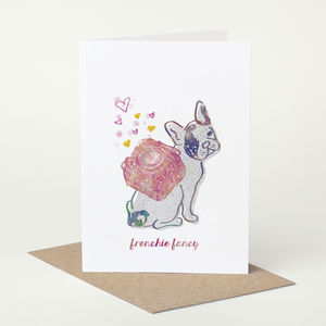 French Bulldog Dog 'Frenchie Fancy' Birthday Card