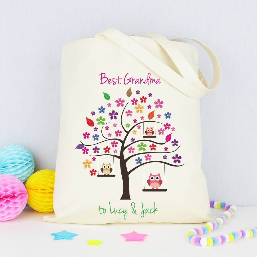 personalised 'grandma' shopping bag by andrea fays ...