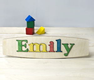Personalised Wooden Name Puzzle - more