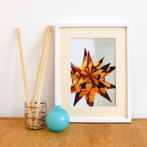 Origami Dodecahedron Giclee Print