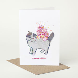 Exotic Shorthair Cat 'Meowmallow' Birthday Card