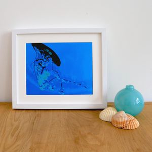 Silhouette Jellyfish Giclee Print