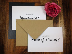 Will You Be My Bridesmaid? Card Calligraphy Font - new in wedding styling