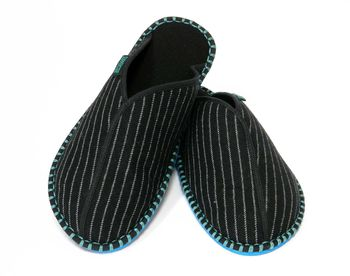 Pinstripe Slippers