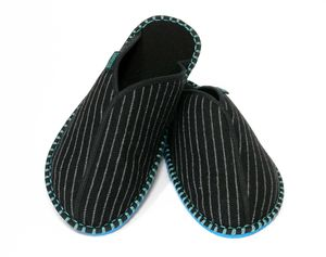 Pinstripe Slippers - men's fashion