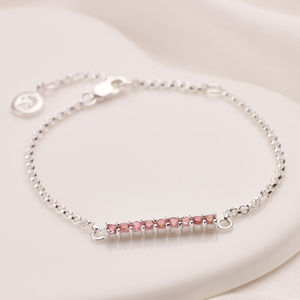 Grace Bracelet Pink Or White Topaz