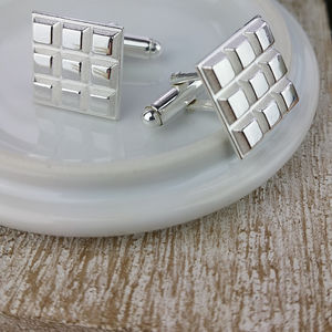 Chocolate Silver Cufflinks