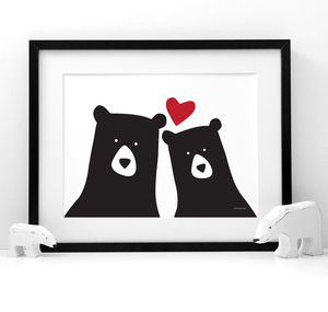 Bear Me And You 'Selfie' Print - home sale
