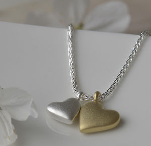 Silver Mother And Child Necklace