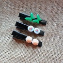 Parisian Black Hair Slides