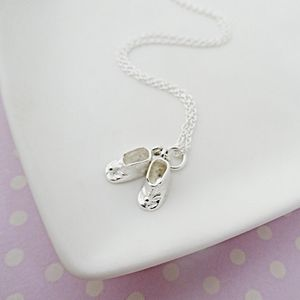 Baby Shoes Christening Necklace - christening gifts