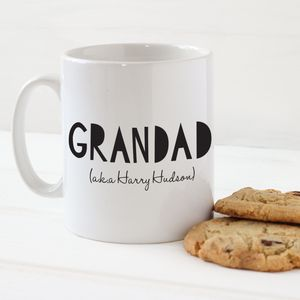 Personalised Grandad Mug - gifts for grandparents