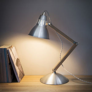 Oak And Aluminium Table Lamp - office & study
