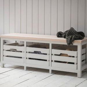 Storage Bench With Three Crates - furniture