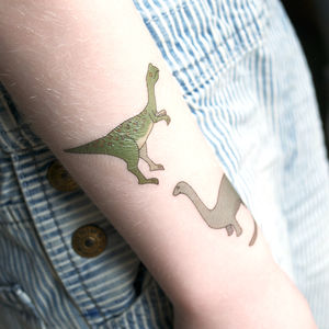 Dinosaur Temporary Tattoos - play scenes