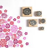 Mexican Flower Rubber Stamps - halloween