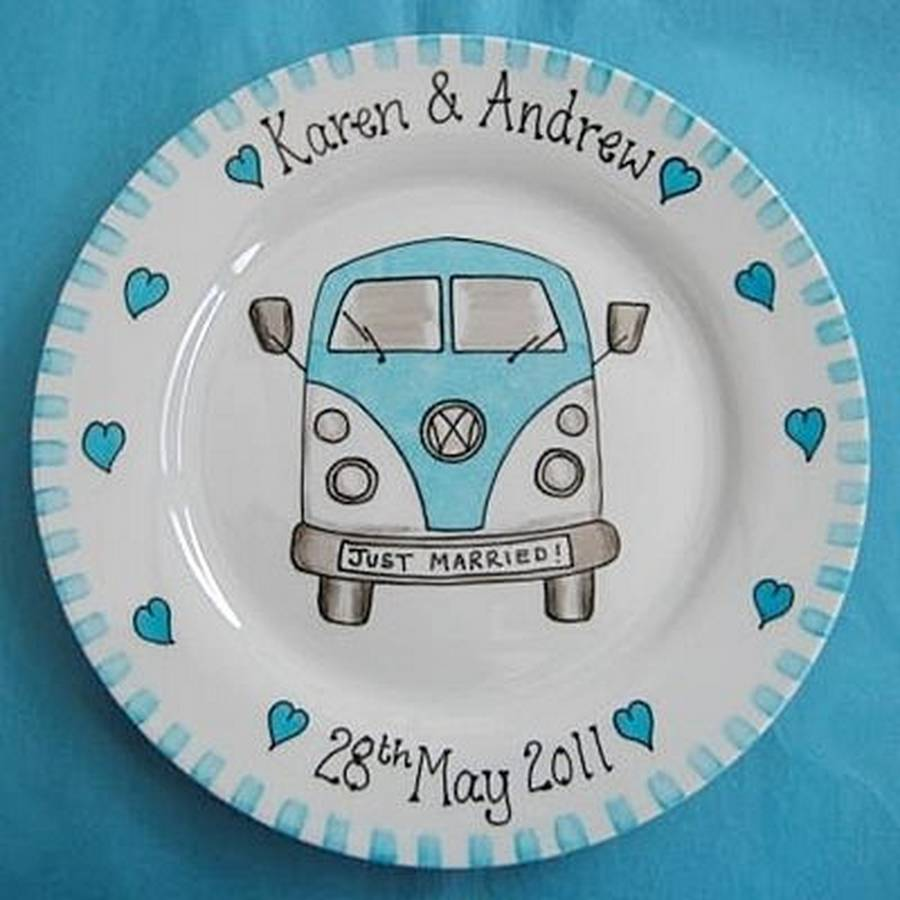 Just Married Personalised Campervan Plate By Personalised At Pippins Notont