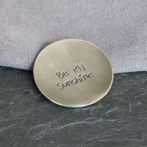 'Be My Sunshine' Pewter Trinket Dish