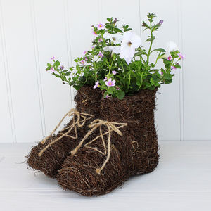 Walking Boots Planter - 50th birthday gifts