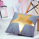 Gold Brass Metallic Star Cushion