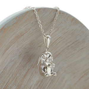Sterling Silver Lop Eared Rabbit Necklace - necklaces & pendants