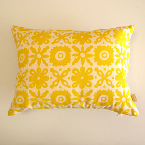 Cut Flower Screenprint Cushion - home sale