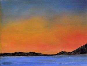 Sunset, Original Oil Painting - canvas prints & art