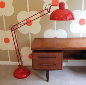 Crimson Angled Floor Lamp - living room