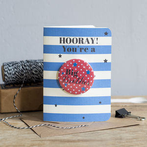 Hooray You're A Big Brother New Baby Card