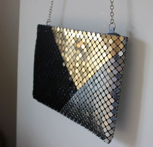 Gold And Black Chain Link Clutch Bag - view all gifts for her