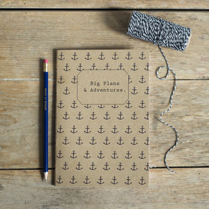 'Big Plans And Adventures' Notebook - stationery-lover