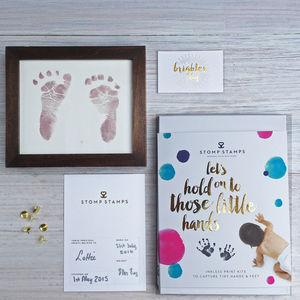 Daddy's Magic Inkless Handprint Footprint Kit - personalised
