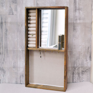 Large Wall Jewellery Storage And Mirror - jewellery storage & trinket boxes