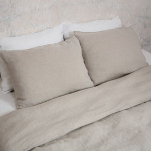 Stone Washed Bed Linen Pillow Case Prewashed - bed, bath & table linen