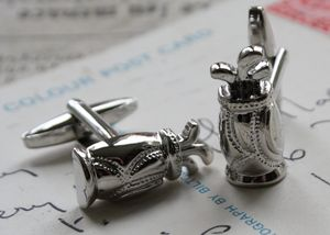 Personalised Golf Bag Cufflinks - gifts for golfers