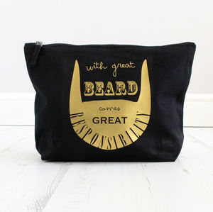 Great Beard, Great Responsibility Men's Grooming Bag - gifts for him