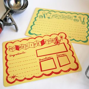 'Atomic Kitchen' Hand Printed Recipe Cards - kitchen