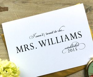 I Can't Wait To Be Mrs … Wedding Card To Bride/Groom - wedding cards