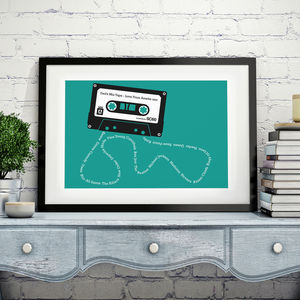 Personalised Mix Tape Print - sale by category